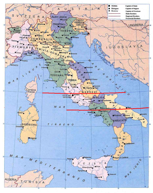 Large Map Of Italy With Regions.North South Differences In Italian Iq Is Richard Lynn Right
