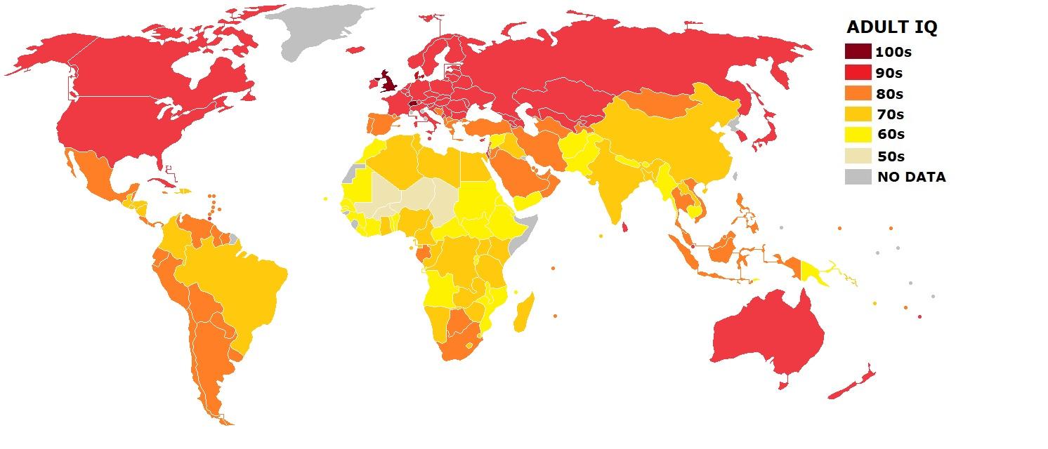Worldwide IQ estimates based on education data « NotPoliticallyCorrect